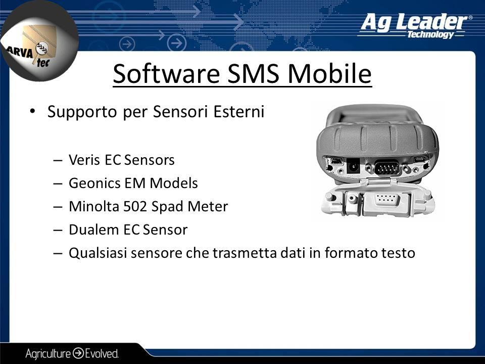 Supporto per Sensori Esterni – Veris EC Sensors – Geonics EM Models – Minolta 502 Spad Meter – Dualem EC Sensor – Qualsiasi sensore che trasmetta dati