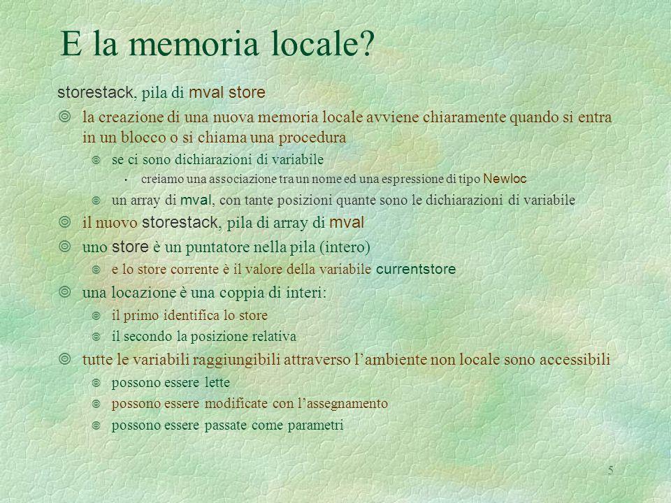 5 E la memoria locale.