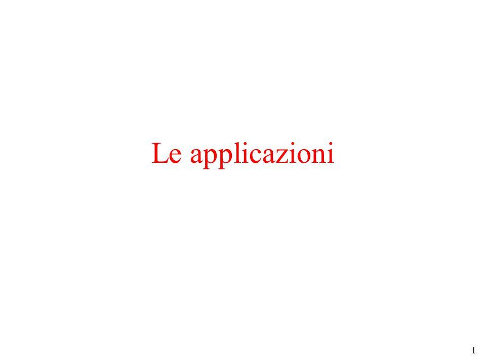 1 Le applicazioni
