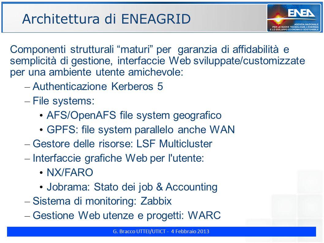 """G. Bracco UTTEI/UTICT - 4 Febbraio 2013 ENE Componenti strutturali """"maturi"""" per garanzia di affidabilità e semplicità di gestione, interfaccie Web svi"""