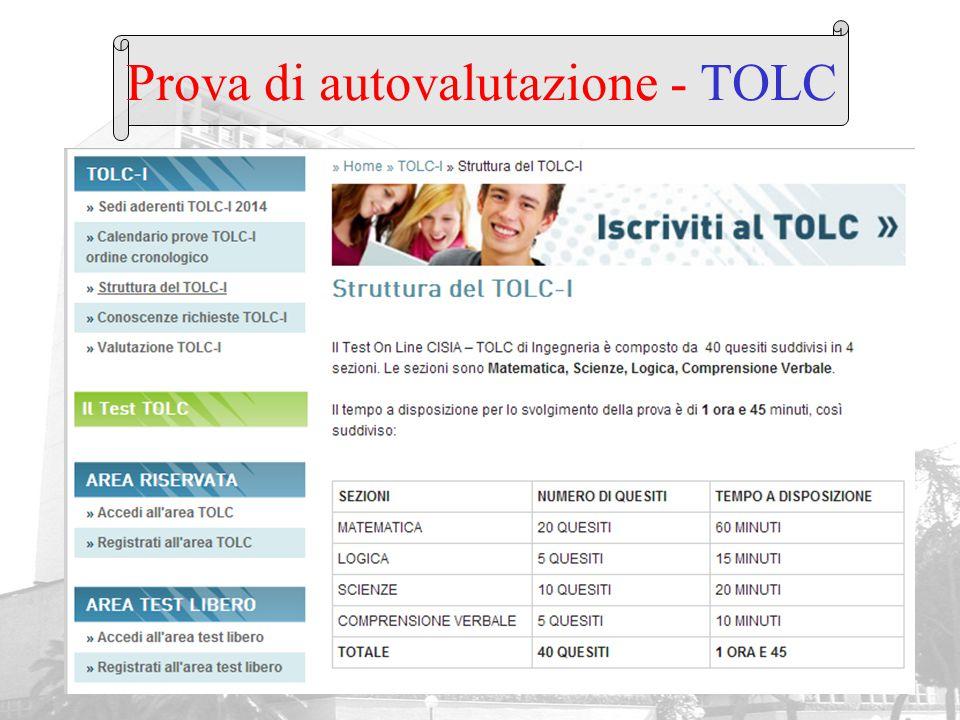 Prova di autovalutazione - TOLC