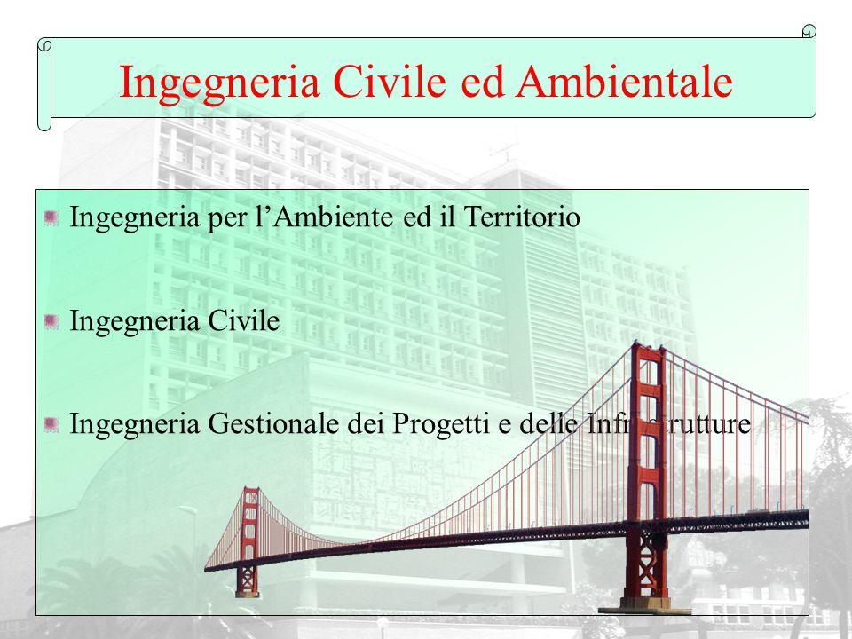 Ingegneria Civile ed Ambientale Ingegneria per l'Ambiente ed il Territorio Ingegneria Civile Ingegneria Gestionale dei Progetti e delle Infrastrutture