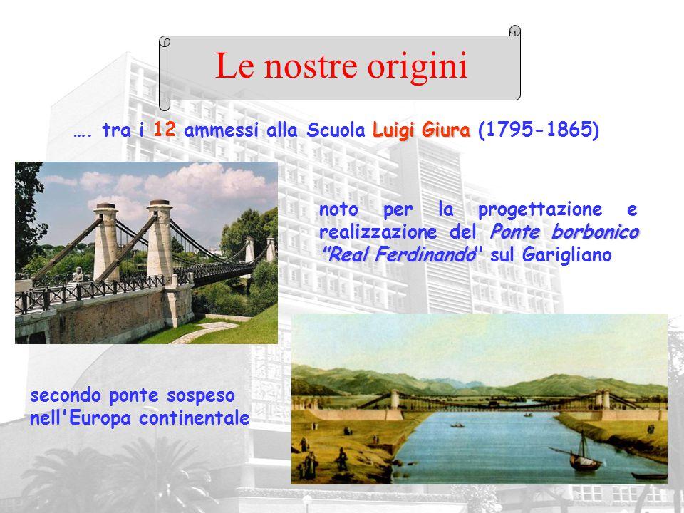 Luigi Giura …. tra i 12 ammessi alla Scuola Luigi Giura (1795-1865) Le nostre origini Ponte borbonico