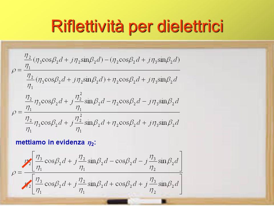 Riflettività per dielettrici mettiamo in evidenza  2 :