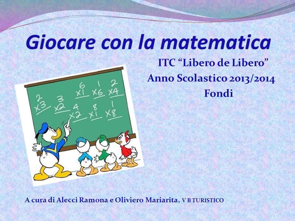 """ITC """"Libero de Libero"""" Anno Scolastico 2013/2014 Fondi A cura di Alecci Ramona e Oliviero Mariarita, V B TURISTICO"""