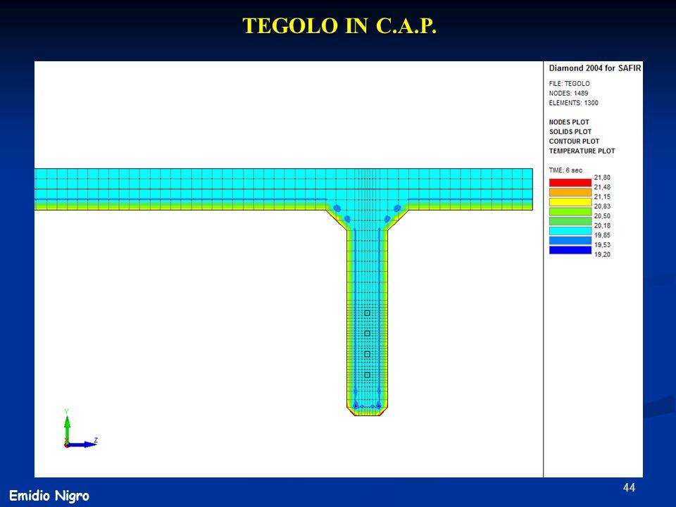 44 TEGOLO IN C.A.P. Emidio Nigro