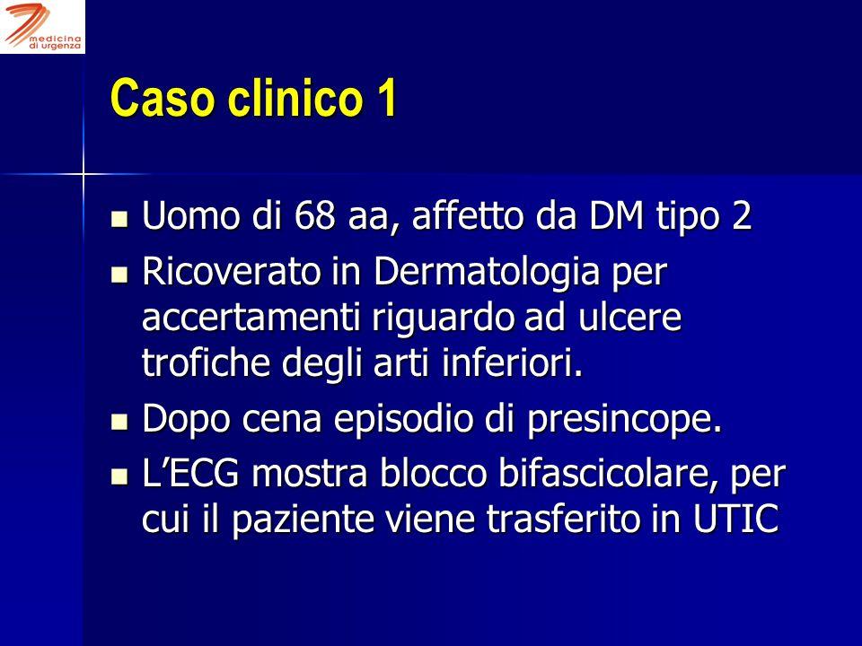 Caso clinico 1 Uomo di 68 aa, affetto da DM tipo 2 Uomo di 68 aa, affetto da DM tipo 2 Ricoverato in Dermatologia per accertamenti riguardo ad ulcere
