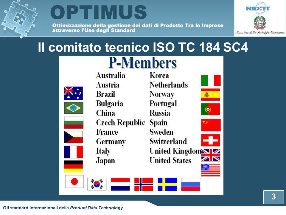 Gli standard sviluppati all'interno del comitato TC184 4 Gli standard internazionali della Product Data Technology