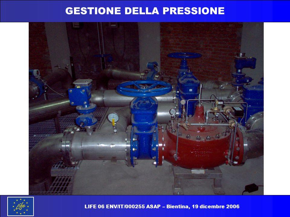 GESTIONE DELLA PRESSIONE LIFE 06 ENV/IT/000255 ASAP – Bientina, 19 dicembre 2006
