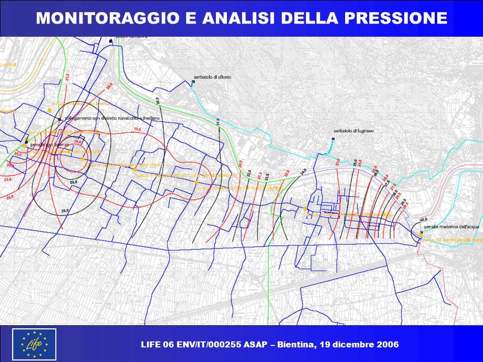 MONITORAGGIO E ANALISI DELLA PRESSIONE LIFE 06 ENV/IT/000255 ASAP – Bientina, 19 dicembre 2006