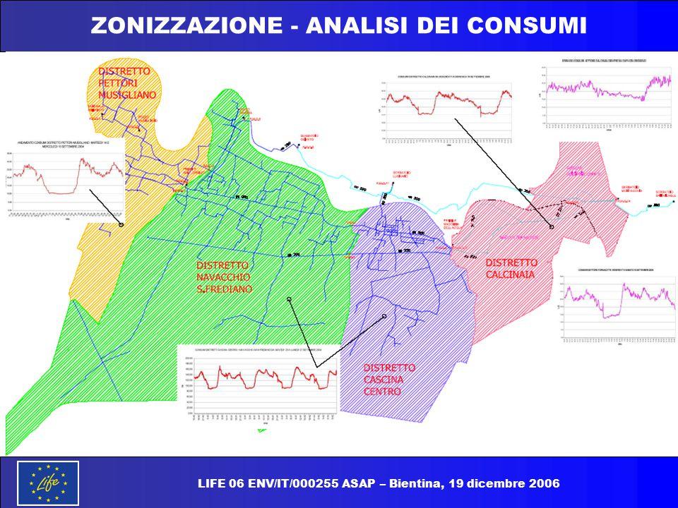 ZONIZZAZIONE - ANALISI DEI CONSUMI LIFE 06 ENV/IT/000255 ASAP – Bientina, 19 dicembre 2006