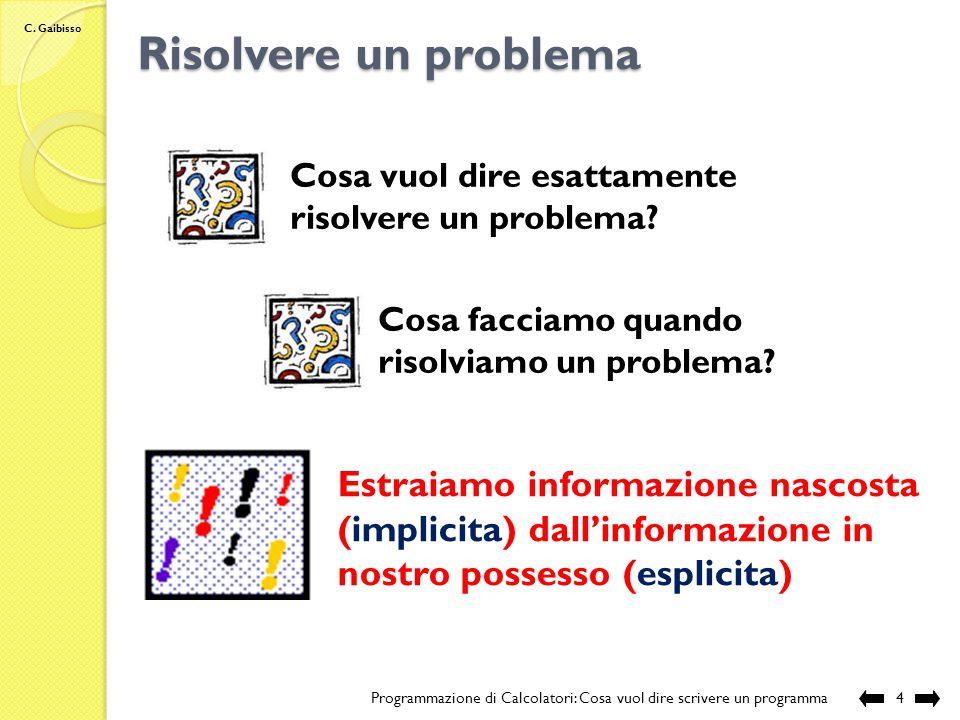 C. Gaibisso Cos'è l'informazione.
