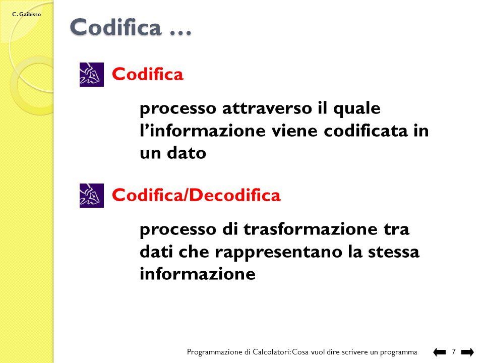 C. Gaibisso Cos'è un dato.