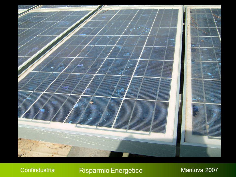 Confindustria Risparmio Energetico Mantova 2007 Costi totali iniziali $ 126.357 Risparmio annuale$ 17.896 Payback semplice: 6,7 anni Media netta risparmio CO 2 188 t CO2 / anno Energia rinnovabile prodotta annuale: 693 MWh/a Risparmio annuale totale: 17.896 $ Incentivi / Sovvenzioni 6.051 $ Costi totali iniziali: 126.357 $ Esempio ipotetico, Milano Fonte: www.retscreen.net