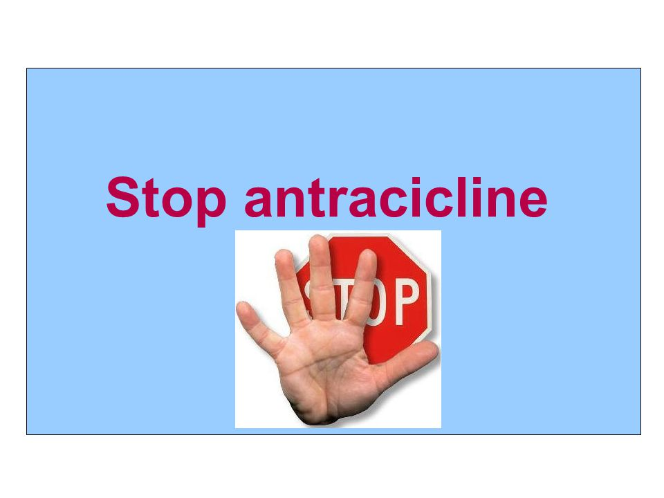 Stop antracicline