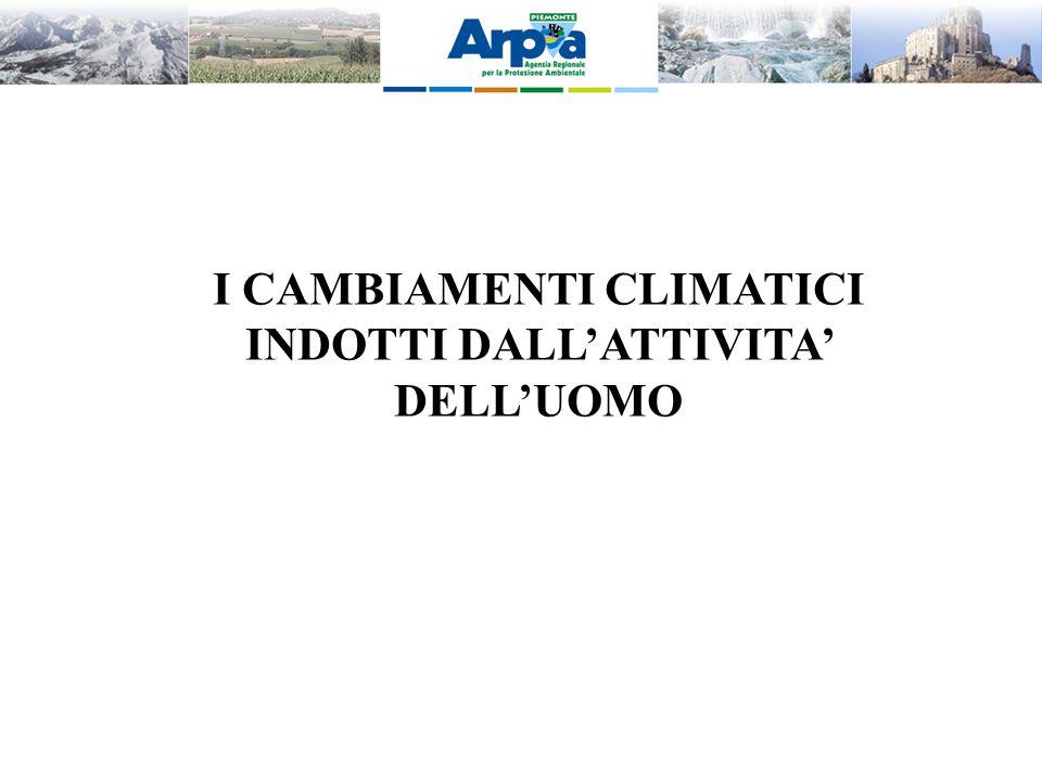 I CAMBIAMENTI CLIMATICI INDOTTI DALL'ATTIVITA' DELL'UOMO