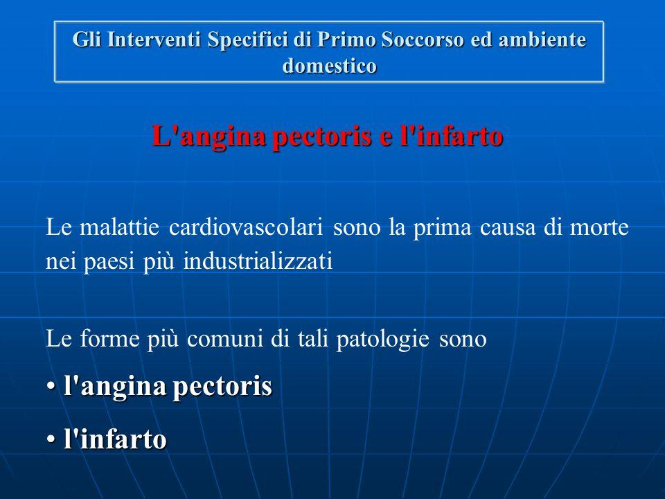PATOLOGIE DI NATURA MEDICA Gli Interventi Specifici di Primo Soccorso e l'ambiente domestico