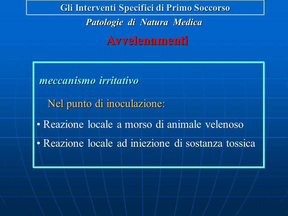 meccanismo irritativo meccanismo irritativo Sulla via digerente: Lesioni ulcerative all'esofago Lesioni ulcerative dello stomaco Perforazione dello st