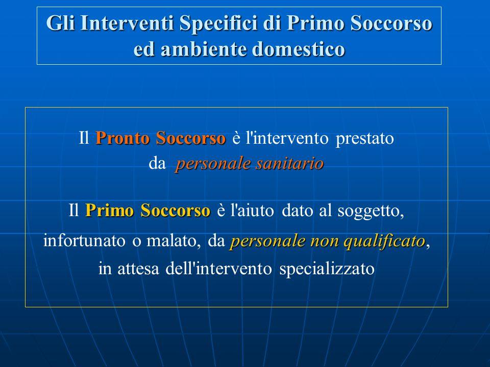 Gli interventi specifici di primo soccorso nell' ambiente domestico