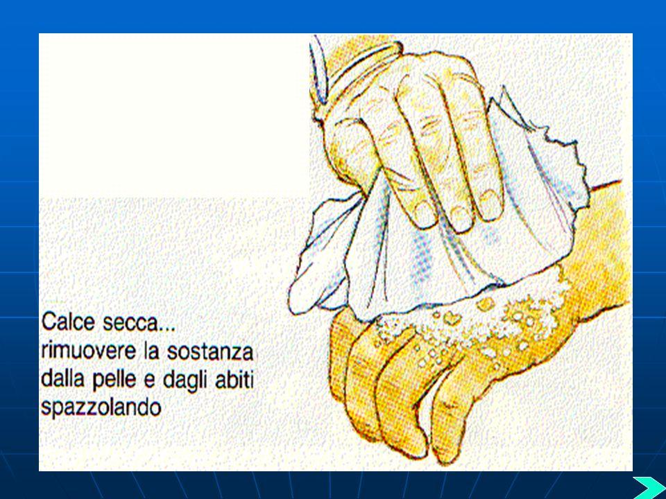Cosa fare in caso di contatto cutaneo Cosa fare in caso di contatto cutaneo con sostanze tossiche secche: con sostanze tossiche secche: non Per le sos