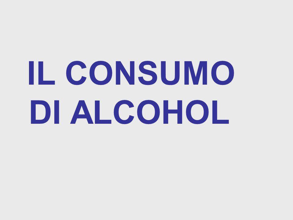 IL CONSUMO DI ALCOHOL