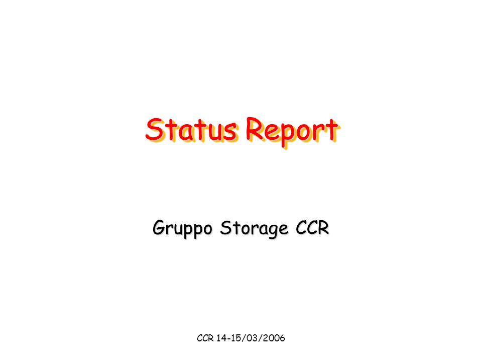CCR 14-15/03/2006 Status Report Gruppo Storage CCR