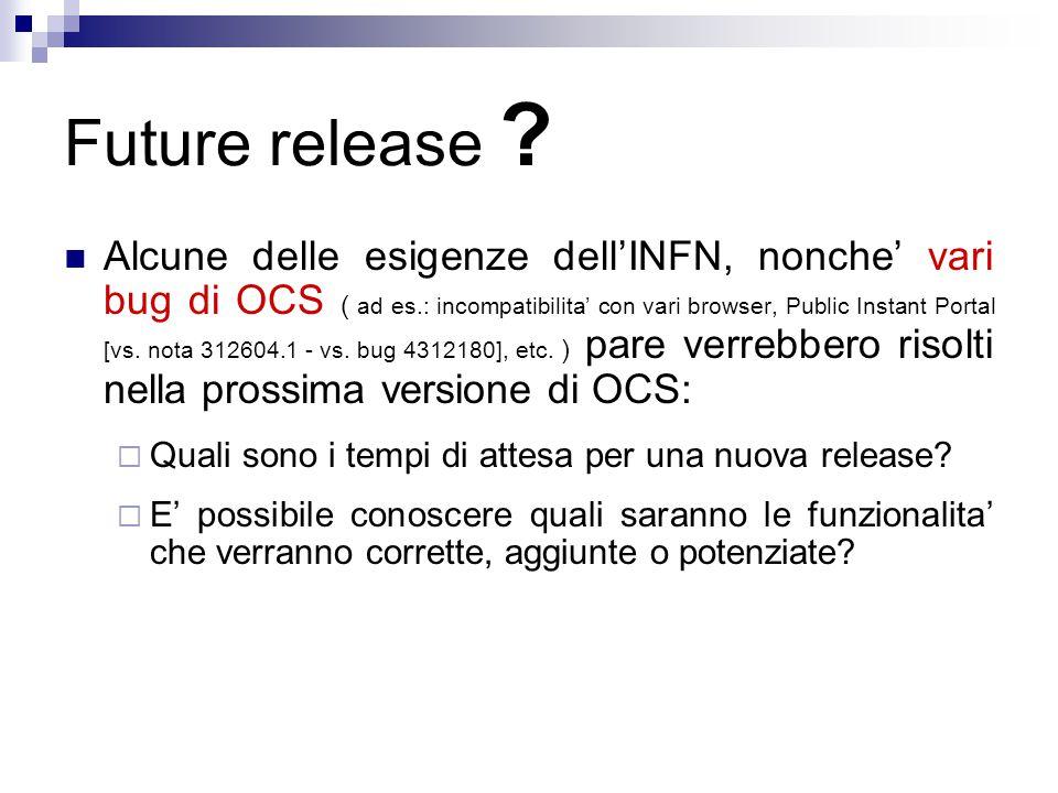 Future release .