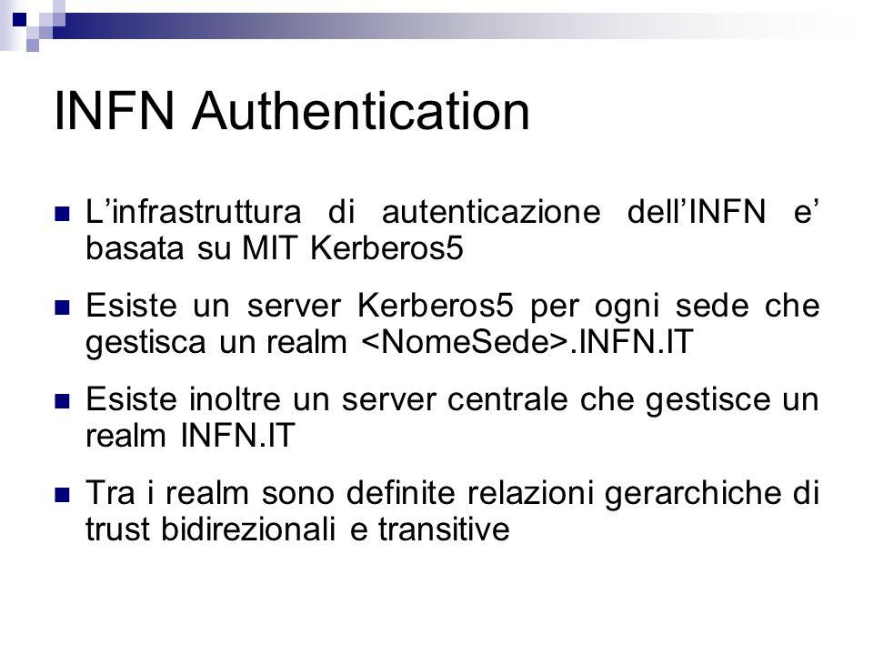 Autenticazione – Metodo 1 (Ticket Kerberos5) OCS dovra' validare il ticket presentato dal client attraverso le chiamate Kerberos5 del SO che sara' configurato opportunamente.