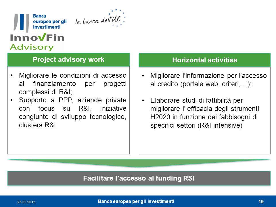 Migliorare le condizioni di accesso al finanziamento per progetti complessi di R&I; Supporto a PPP, aziende private con focus su R&I, Iniziative congi