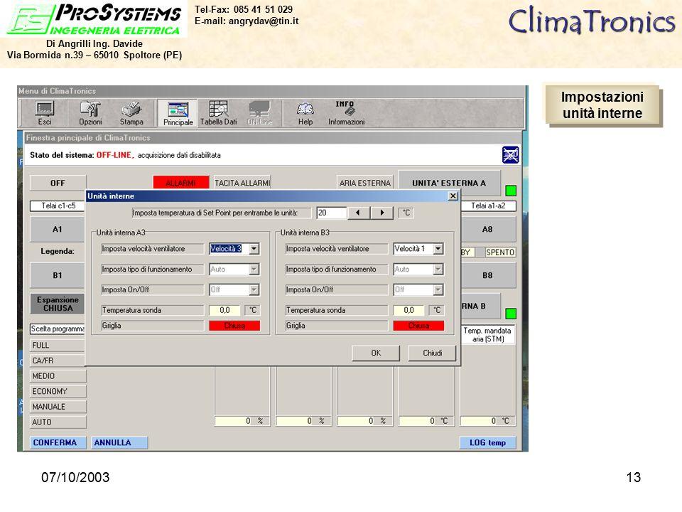 07/10/200313ClimaTronics Di Angrilli Ing.