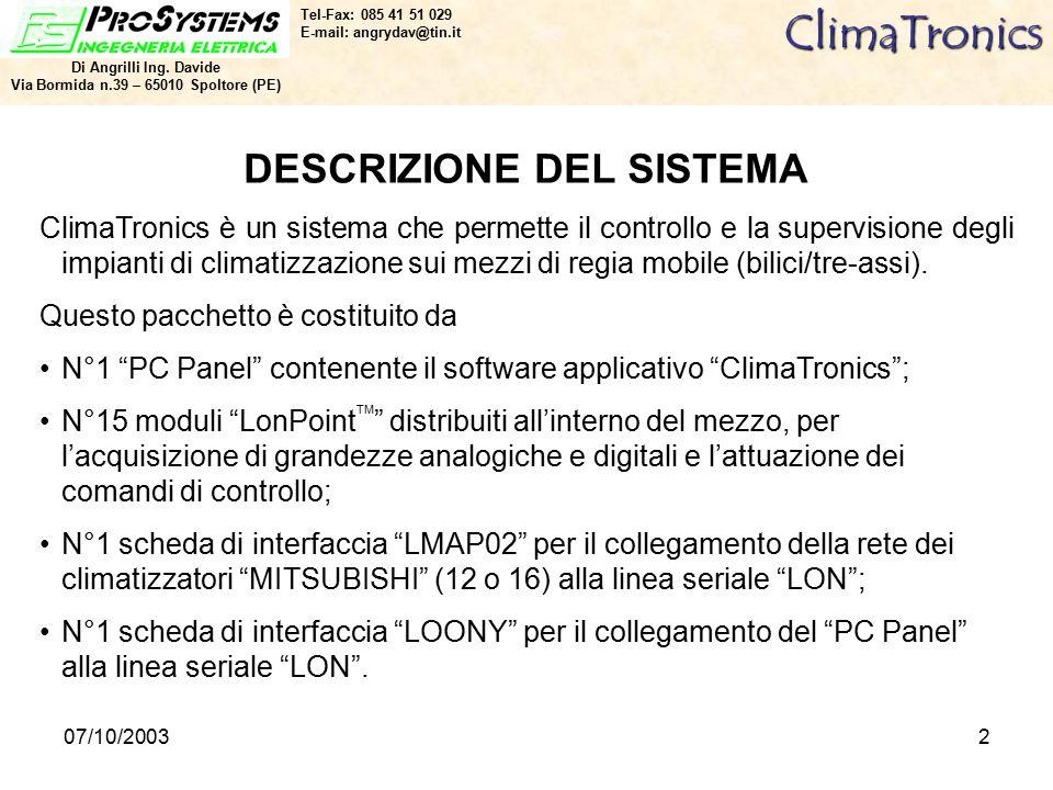 07/10/20032ClimaTronics Di Angrilli Ing.