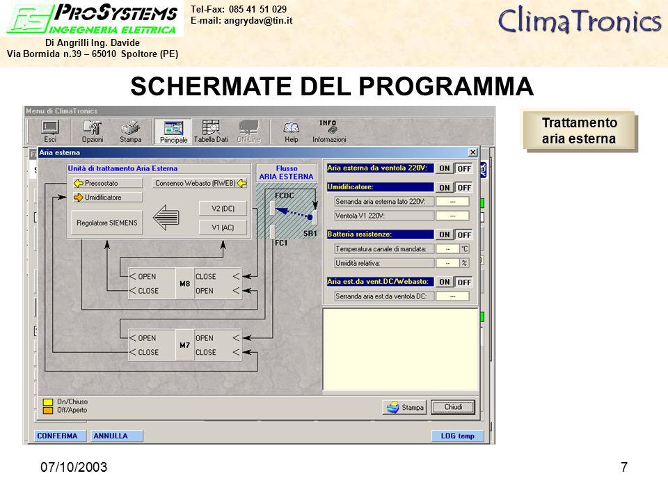 07/10/20037ClimaTronics Di Angrilli Ing.
