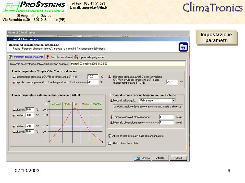 07/10/20039ClimaTronics Di Angrilli Ing.