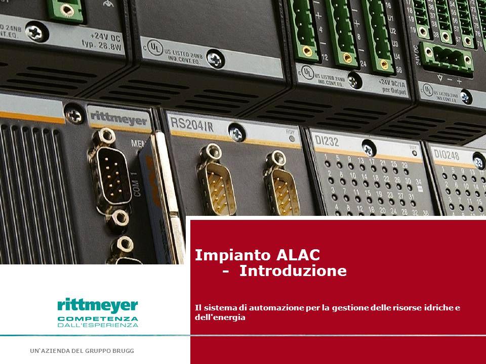 UN'AZIENDA DEL GRUPPO BRUGG Impianto ALAC - Introduzione Il sistema di automazione per la gestione delle risorse idriche e dell'energia