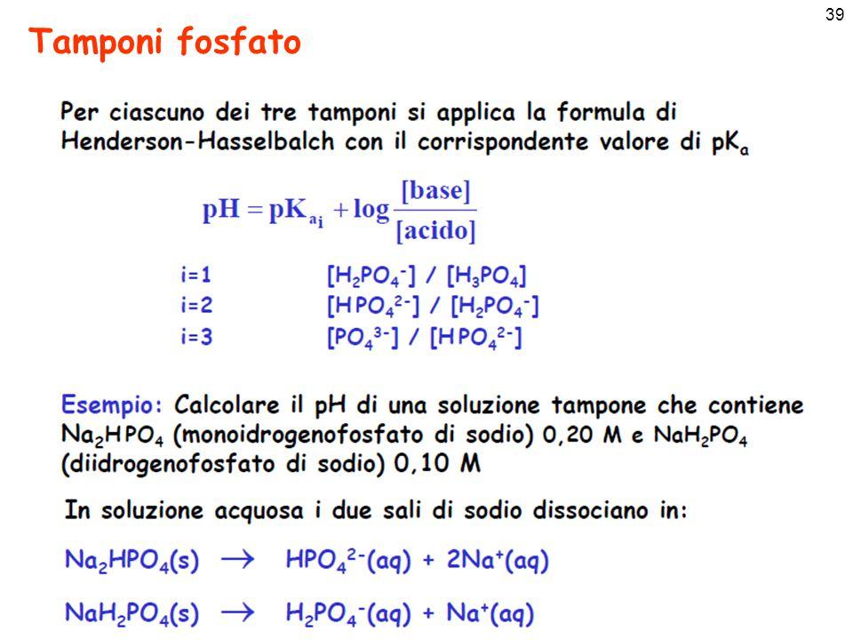 39 Tamponi fosfato