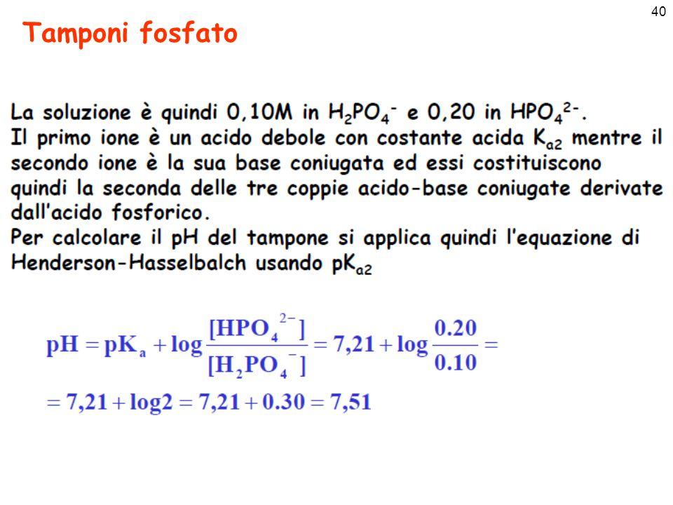 40 Tamponi fosfato