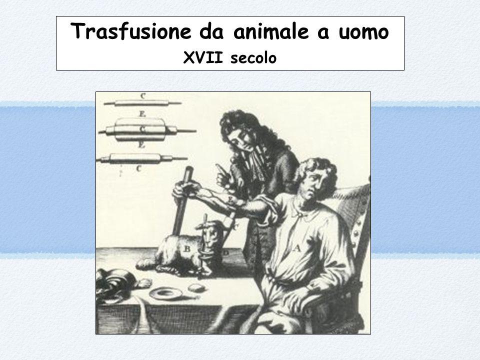 Trasfusione da animale a uomo XVII secolo