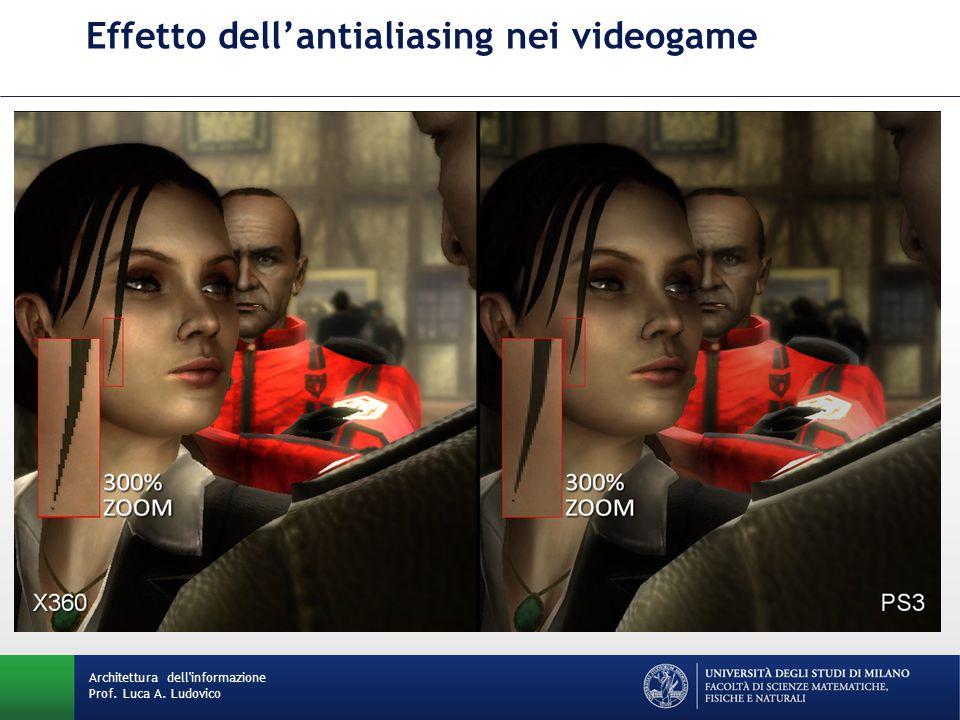 Architettura dell informazione Prof. Luca A. Ludovico Effetto dell'antialiasing nei videogame