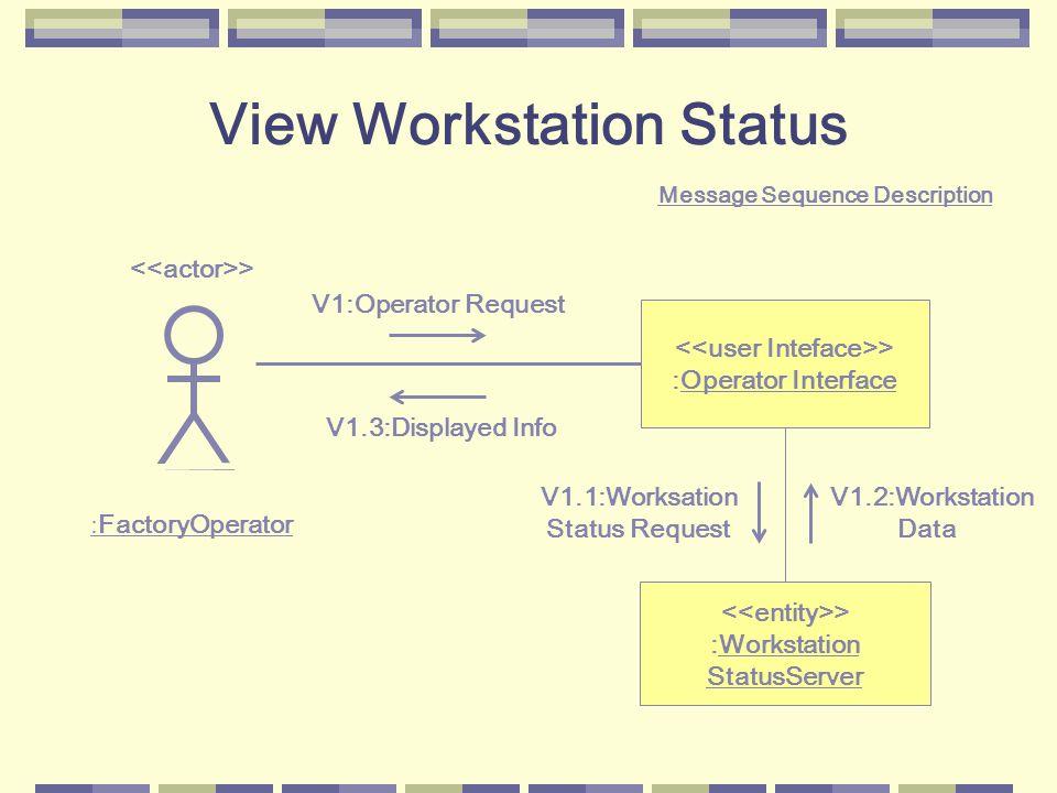 View Workstation Status è un semplice esempio di uno use case client/server.