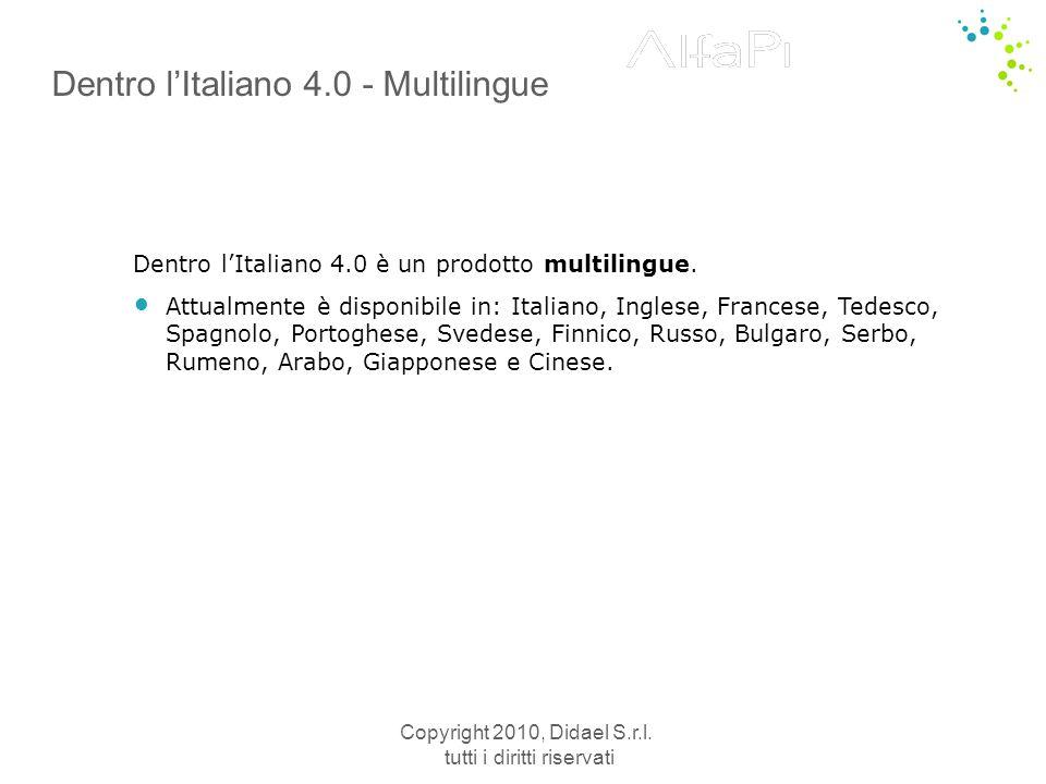 Copyright 2010, Didael S.r.l. tutti i diritti riservati Dizionario visuale