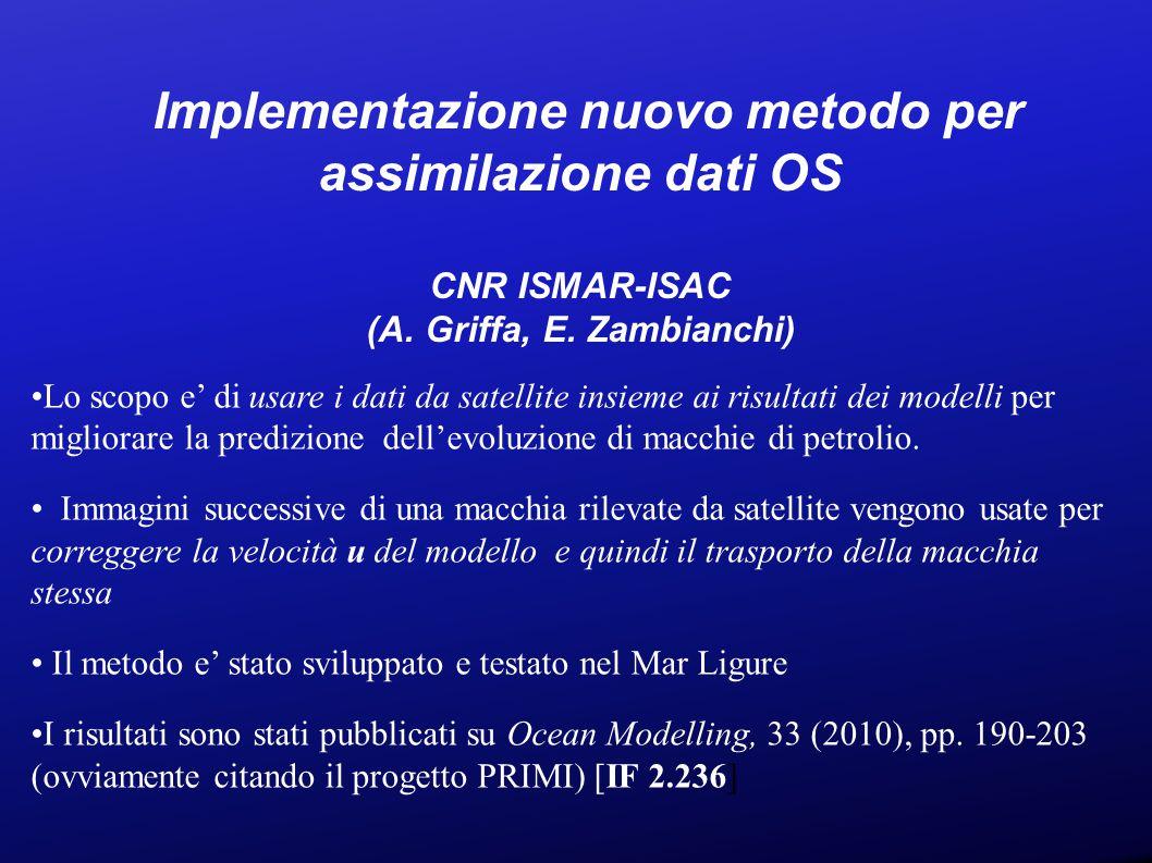 Implementazione nuovo metodo per assimilazione dati OS CNR ISMAR-ISAC (A.