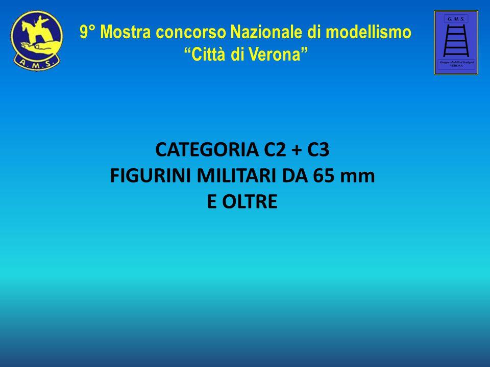 """CATEGORIA C2 + C3 FIGURINI MILITARI DA 65 mm E OLTRE 9° Mostra concorso Nazionale di modellismo """"Città di Verona"""""""