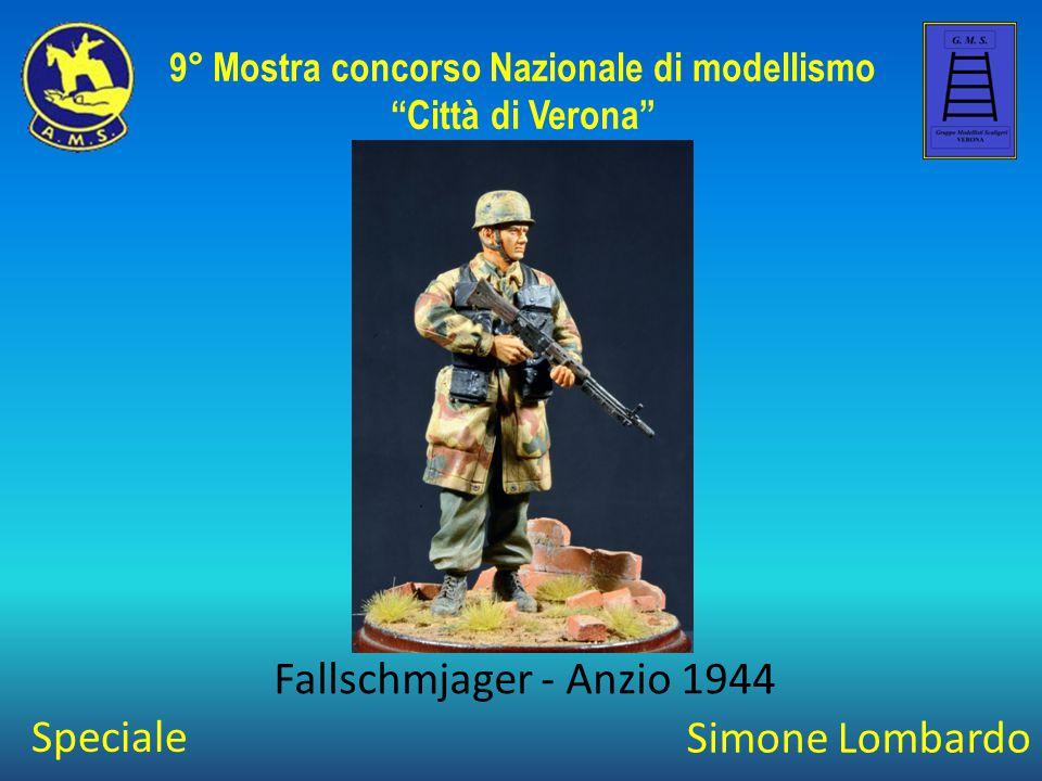 """Simone Lombardo Fallschmjager - Anzio 1944 9° Mostra concorso Nazionale di modellismo """"Città di Verona"""" Speciale"""
