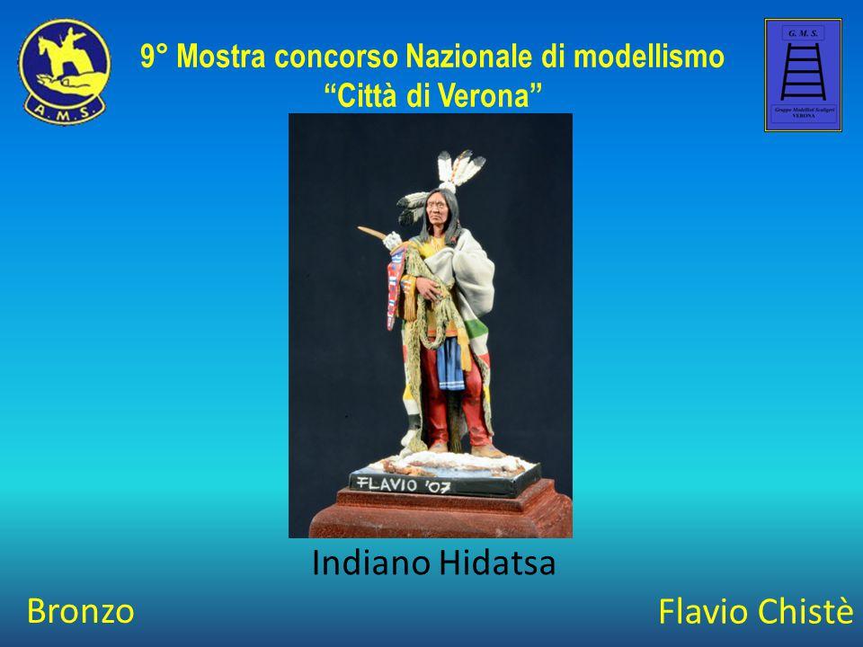 """Flavio Chistè Indiano Hidatsa 9° Mostra concorso Nazionale di modellismo """"Città di Verona"""" Bronzo"""