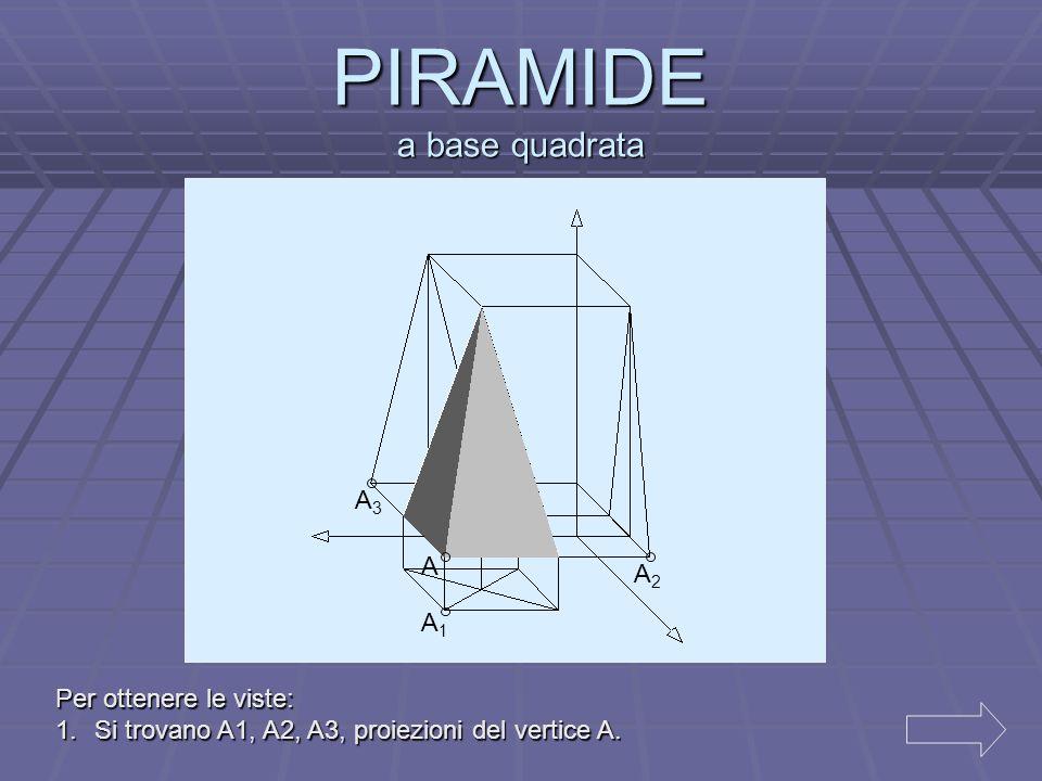 2.Nella vista dall' alto si disegna un rettangolo di lati a e b con vertici in A1. 3.Nella vista frontale, a partire da A2 si traccia un rettangolo di