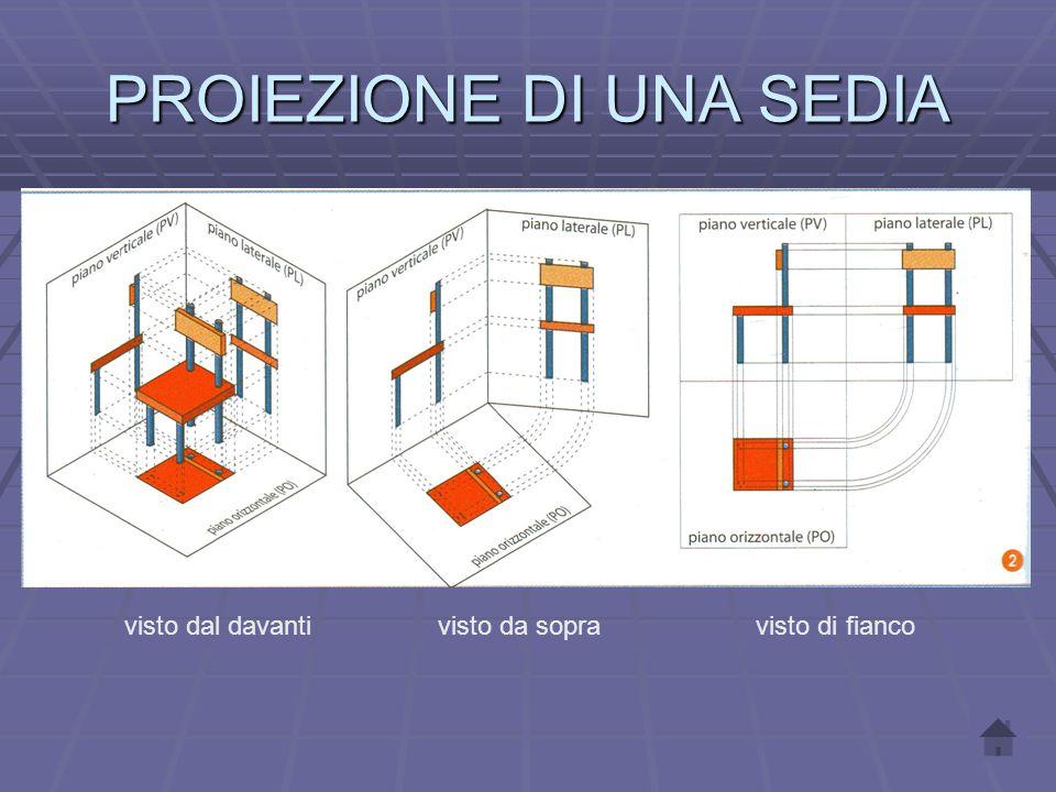 2. Nella vista dall' alto si disegna un quadrato di lato a con vertici in A 1. 3. Nella vista frontale, a partire da A 2 si traccia un triangolo di ba