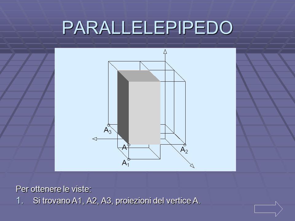 PROIEZIONI ORTOGONALI DI SOLIDI  Parallelepipedo Parallelepipedo  Piramide a base quadrata Piramide a base quadrata Piramide a base quadrata
