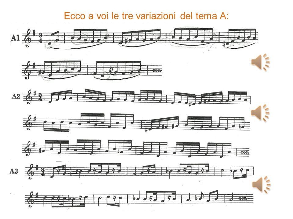 Appare quindi il secondo tema suonato da clarinetti e fagotti Osservandoli bene si può arrivare a dire che i due temi sono simili perché hanno in comune: il tempo musicale, la tonalità e il ritmo puntato.