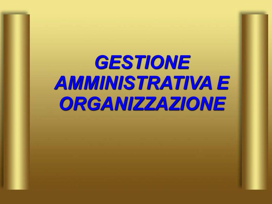 GESTIONE AMMINISTRATIVA E ORGANIZZAZIONE