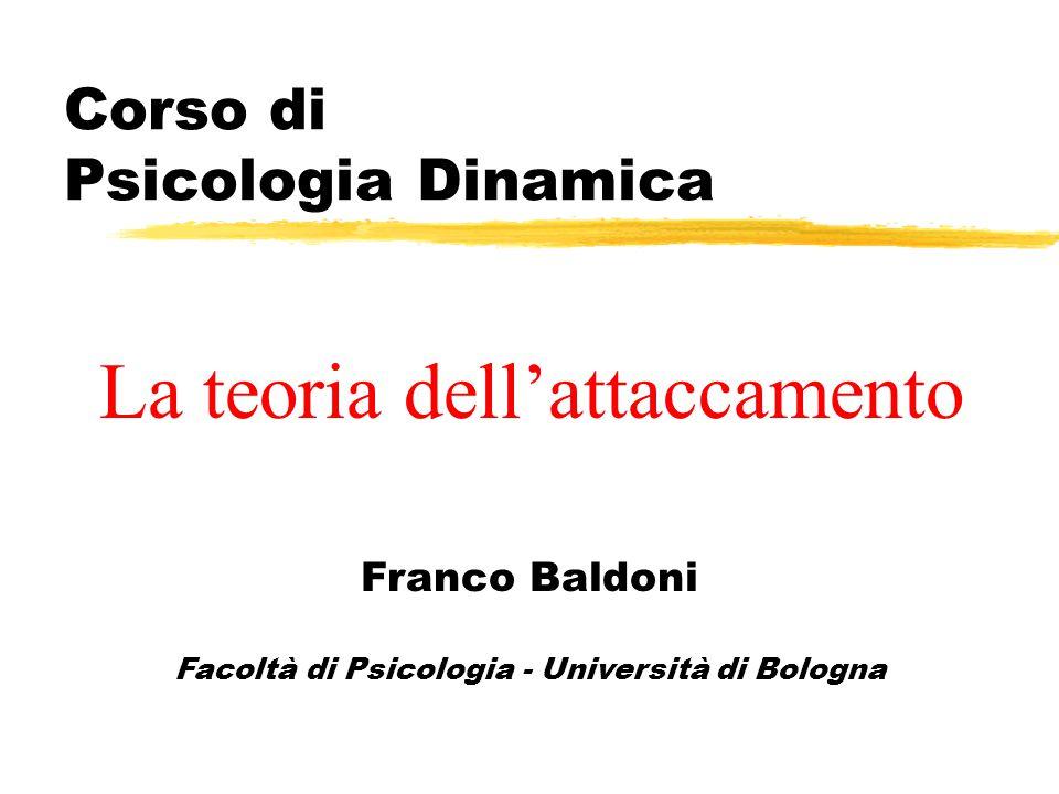 Corso di Psicologia Dinamica Franco Baldoni Facoltà di Psicologia - Università di Bologna La teoria dell'attaccamento
